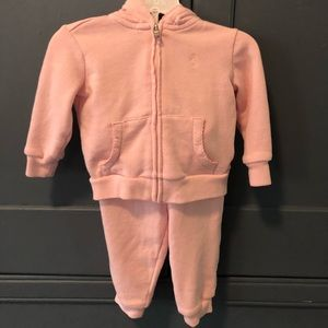 Sweet and soft Ralph Lauren hooded sweatsuit